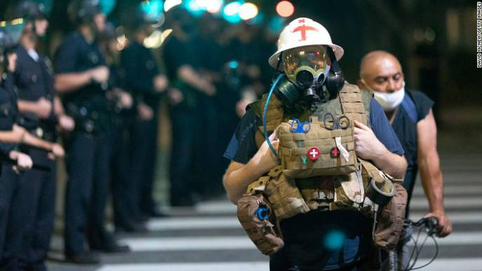No 'Rule Book' for EMTs Responding to Protests Amid a Pandemic
