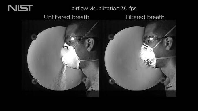 Airflow Videos Clearly Show Why Masks with Exhalation Valves Do Not Slow the Spread of COVID-19